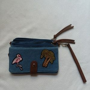 A cross body wallet bag